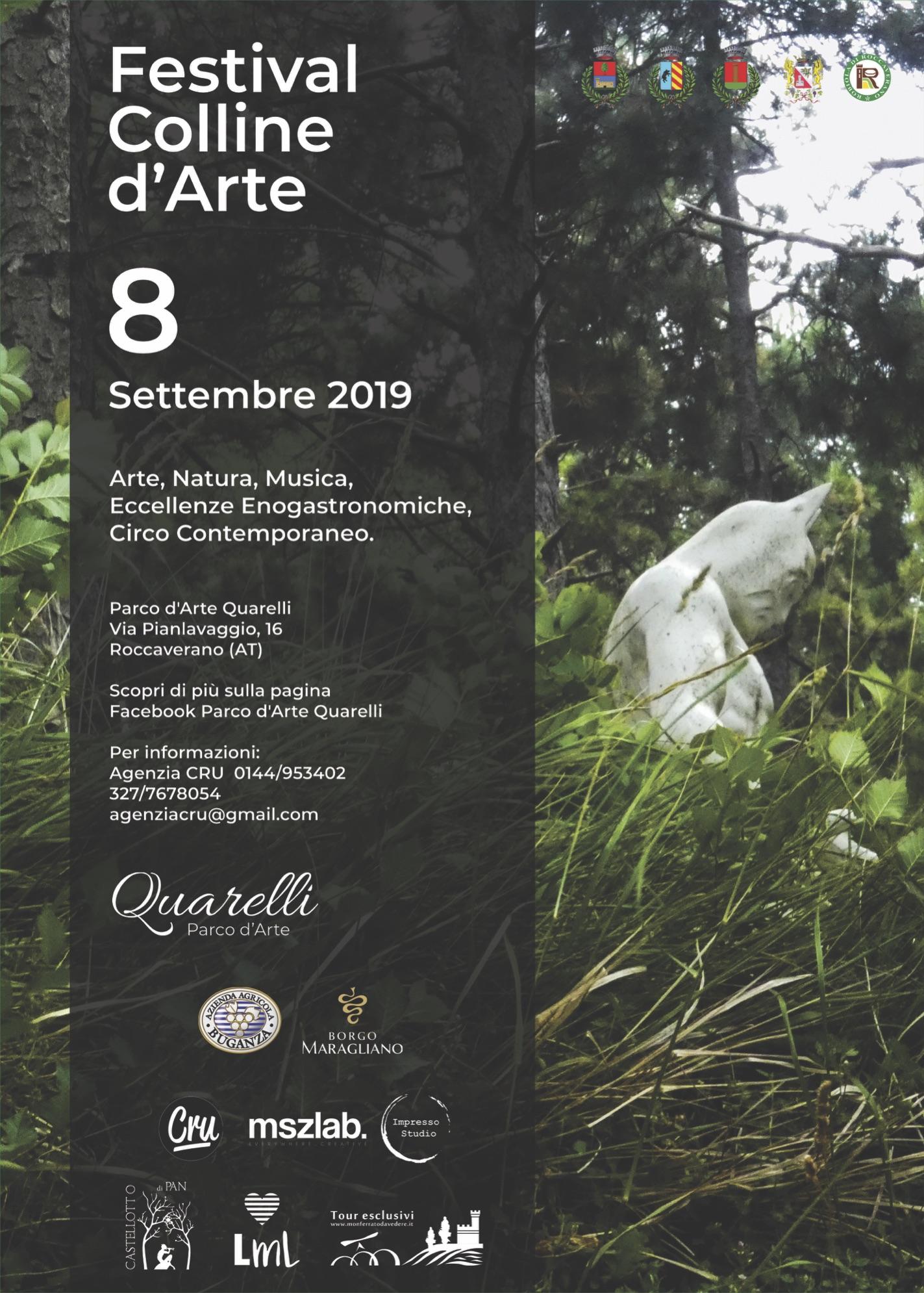 Locandina Festival Colline d'Arte, Roccaverano (AT)